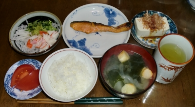 4月18日(月):晩ご飯〜441キロカロリー