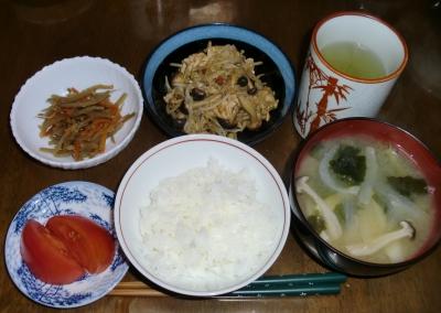 4月19日(火):晩ご飯〜436キロカロリー