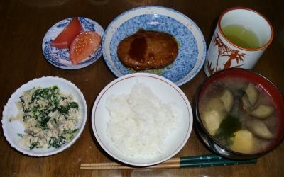 4月26日(火):晩ご飯〜426キロカロリー
