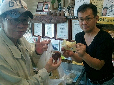 レモンケーキが  食べたくて、高田一ぷく堂に連れて行ってもらいました