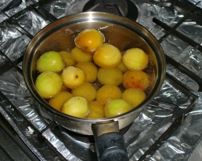 しだれ梅から収穫した実から作った梅ジャムです!