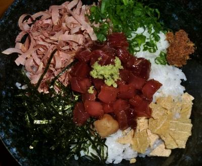 今回のお昼ご飯は「小料理 雪しずく」の枕崎船人めしでした