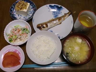 毎日、低カロリーな晩ご飯を!(10.27〜11.2)