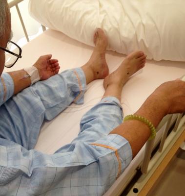 親父の冠動脈インターベーション(カテーテル手術)でした