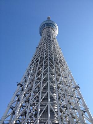 忘年会を楽しんだ次の日に東京スカイツリーへ