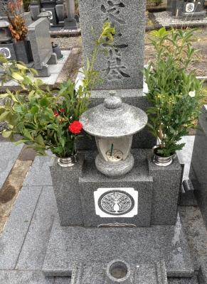 亡き母の月命日なのでお墓参りに行きました