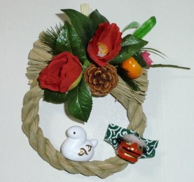 今晩宅配にて配送する生花アレンジメント・しめ縄飾り