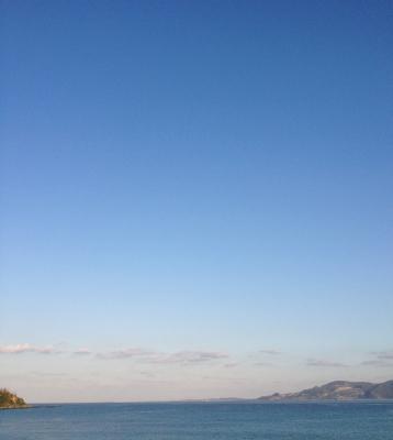 朝の素晴らしい景色の喜瀬ビーチパレスからスタート