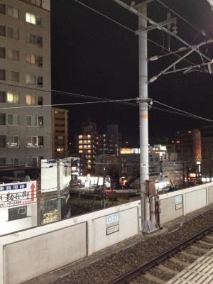 松山へ帰る高速バスの時間もあったので早めに街のあかりを出ました