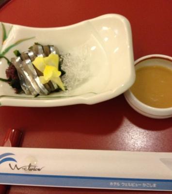 今回もホテルウェルビューかごしまの晩御飯は美味しかったです