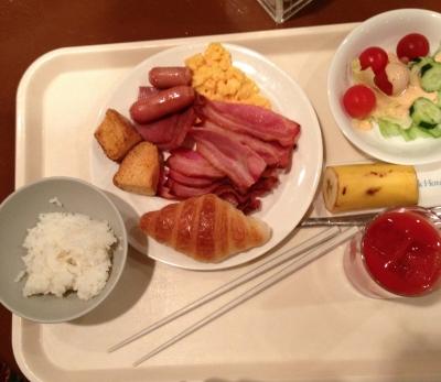 最終日、朝食を食べてから見る景色は、キレイでした
