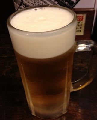 まだは生ビールで乾杯