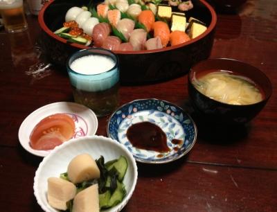 今日は親父の81歳のお誕生日、お寿司を食べて呑んでお祝いしました