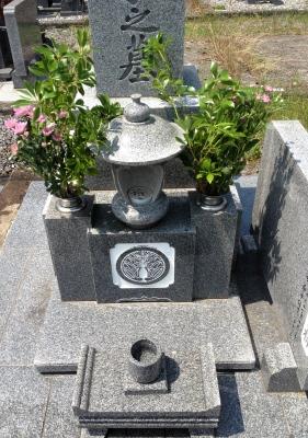 月命日でお墓参り、晴れていて清々しい気持ちとなりました