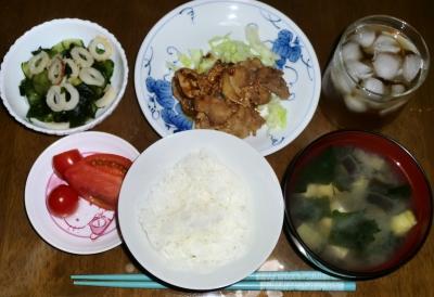 毎日、低カロリーな晩ご飯を!(8.10〜8.16)