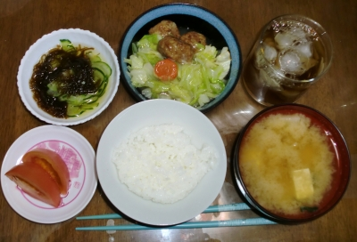 毎日、低カロリーな晩ご飯を!(8.17〜8.23)