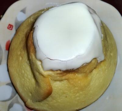 今日のおやつは「まるで山?パン」でした