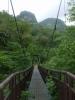 140705渓谷第一吊橋より円山と恵岱岳