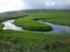 140705湿原テラス前のペンケペタン川の蛇行