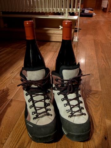 ワインと靴