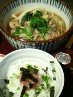 肉うどん&ネギトロ丼