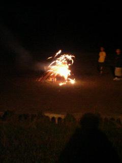 今年最初の花火