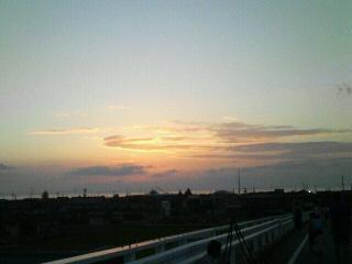夕陽がきれい