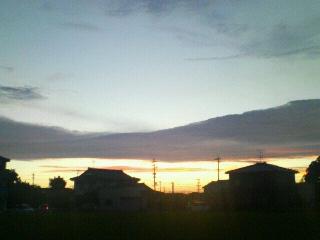 きれいな夕陽。。。
