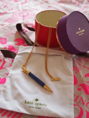 kate spade doodle pencil necklace