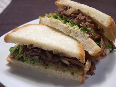 すき焼き サンドイッチ sukiyaki sandwich