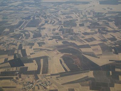 飛行機から眺めたモロッコ