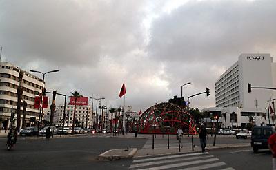 国連広場の辺り