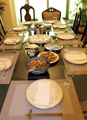 新年会の食卓