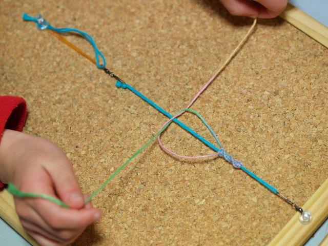 ヘンプ編み