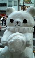 クマの雪だるま