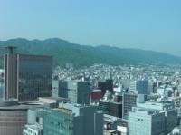 神戸市庁舎から見た山側の眺め