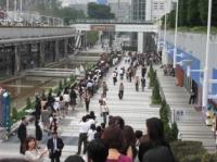 東京ドーム周辺に大行列