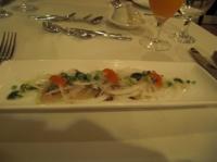 前菜 金目鯛のカルパッチョ