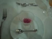 ブルーベリーのグラニテ