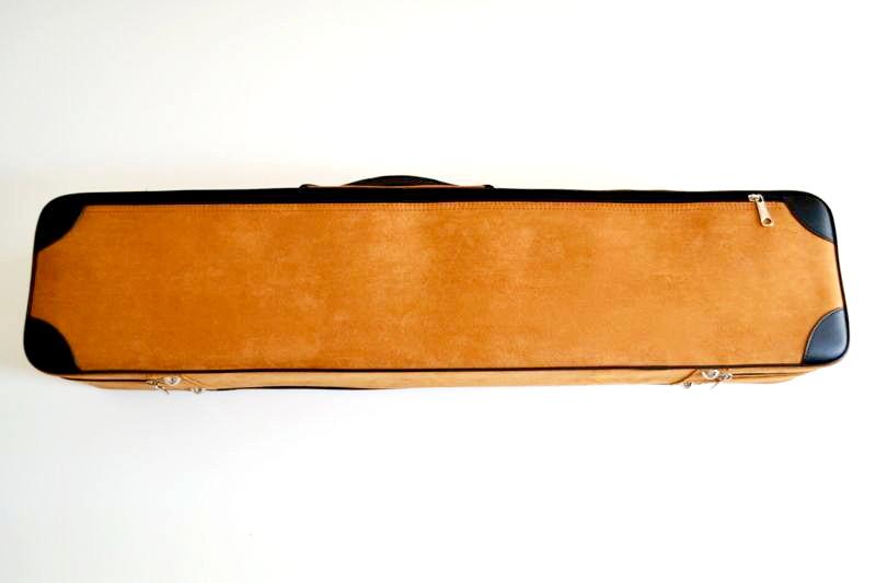 二胡用高級カラーハードケース(ブラウンゴールド)全体