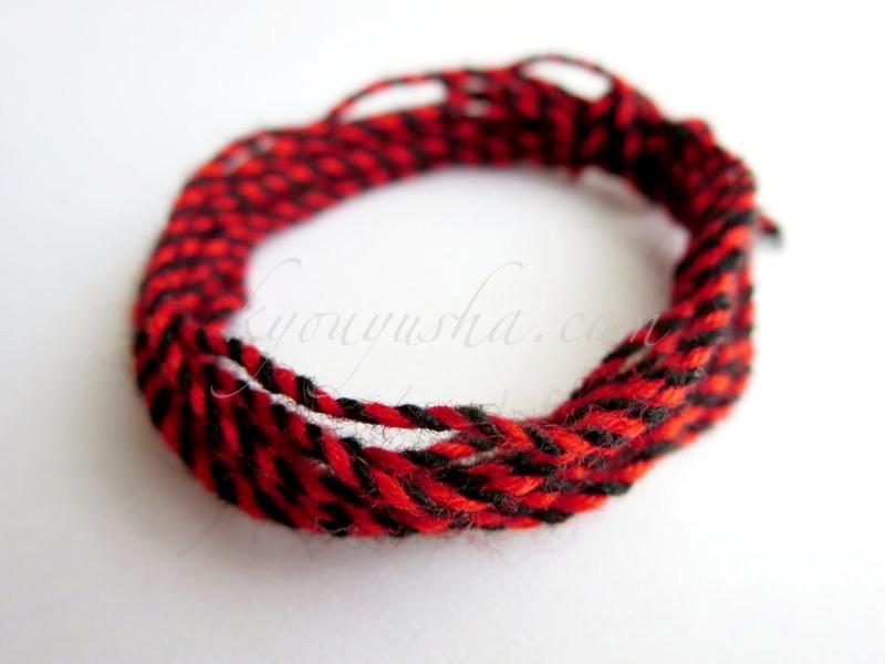 羊毛千斤 黒×赤