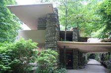 カウフマン邸の入り口