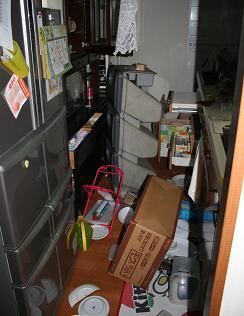 東日本大震災台所