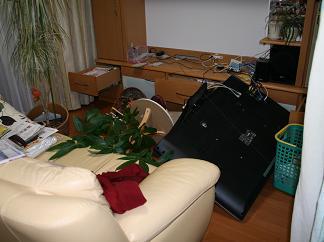 東日本大震災リビング