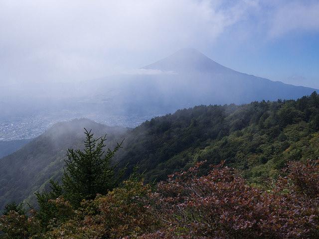 三ツ峠山荘からの富士山