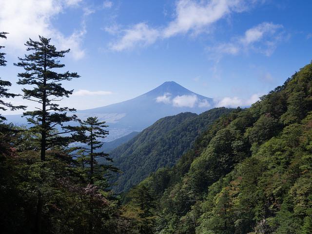 崖からの富士山