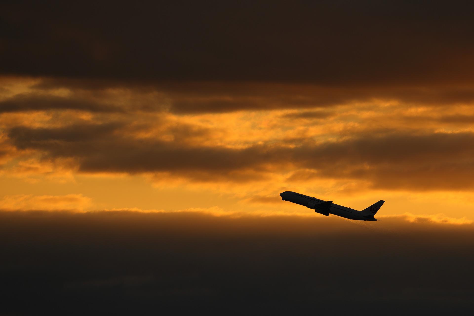 羽田空港初日の出飛行機
