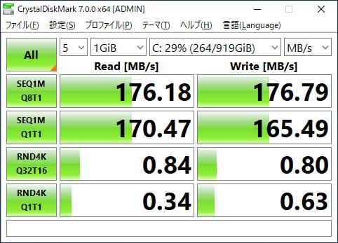 TOSHIBA HDD 1TB ベンチマーク
