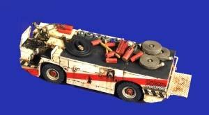 VP2714 米海軍 空母 消防トラクター