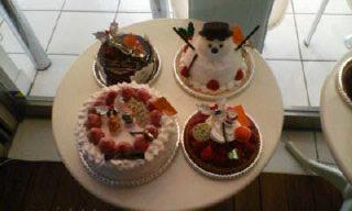 雪だるまのケーキ!!